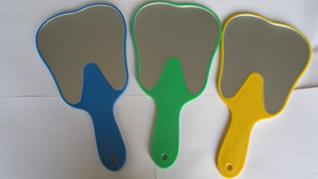 Espejos forma de muela color amarillo dentilandia - Formas de espejos ...