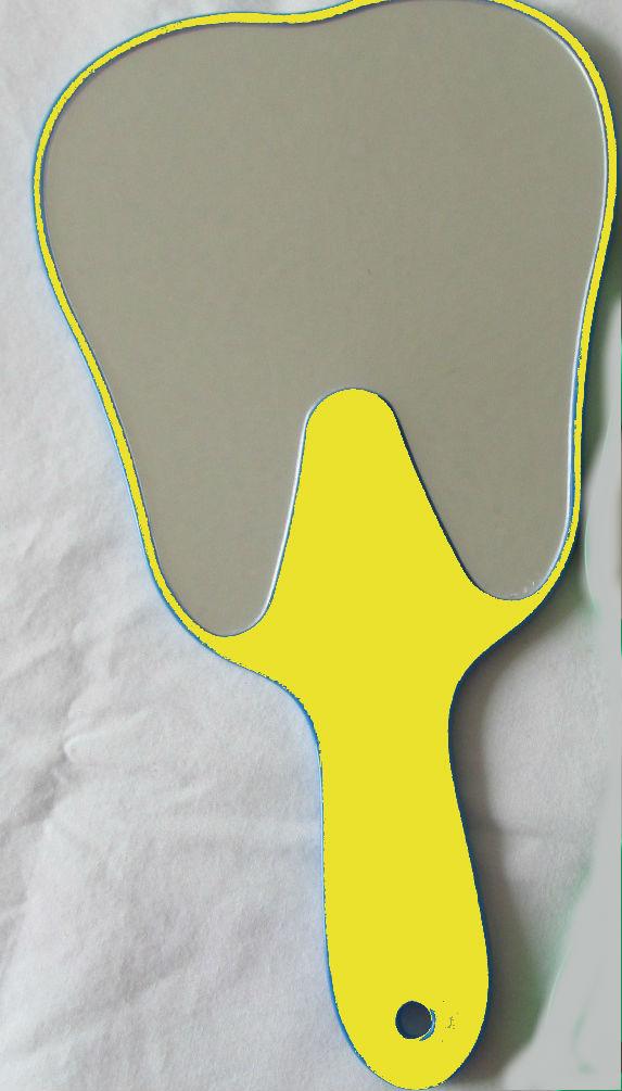 Espejos forma de muela color amarillo dentilandia for Espejos de formas